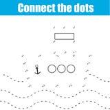 Colleghi il gioco educativo dei bambini dei punti illustrazione di stock