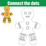 Colleghi il gioco educativo dei bambini dei punti Attività stampabile del foglio di lavoro illustrazione vettoriale
