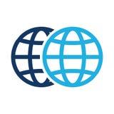 Colleghi il mondo Logo Icon Design illustrazione di stock