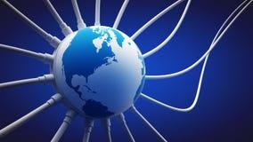 Colleghi il pianeta Terra illustrazione di stock