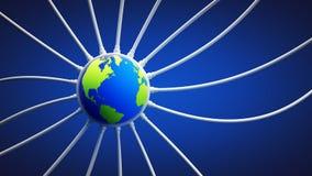 Colleghi il pianeta Terra royalty illustrazione gratis