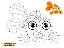 Colleghi il tiraggio dei punti il pesce sveglio del fumetto e colori Istruzione royalty illustrazione gratis