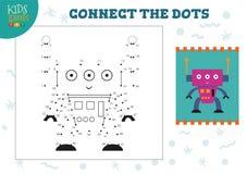 Colleghi illustrazione di vettore del gioco dei bambini dei punti la mini illustrazione di stock