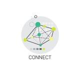 Colleghi l'icona moderna del collegamento di comunicazione di Internet royalty illustrazione gratis
