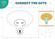 Colleghi l'illustrazione di vettore del gioco dei bambini dei punti illustrazione vettoriale