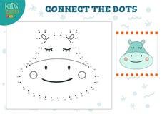 Colleghi l'illustrazione di vettore del gioco dei bambini dei punti Attività connessa con l'istruzione dei bambini in età prescol illustrazione vettoriale