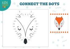 Colleghi l'illustrazione di vettore del gioco dei bambini dei punti Attività connessa con l'istruzione dei bambini in età prescol royalty illustrazione gratis