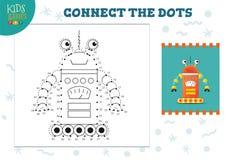 Colleghi l'illustrazione di vettore del gioco dei bambini dei punti Attivit? educativa dei bambini in et? prescolare royalty illustrazione gratis