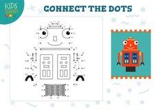 Colleghi l'illustrazione di vettore del gioco dei bambini dei punti Bambini in età prescolare che disegnano attività royalty illustrazione gratis