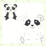 Colleghi l'illustrazione di vettore del panda del gioco dei punti illustrazione vettoriale