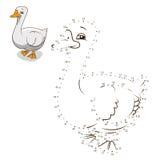 Colleghi l'illustrazione di vettore dell'oca del gioco dei punti royalty illustrazione gratis