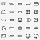 Colleghi le icone illustrazione vettoriale