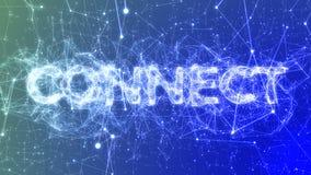 Colleghi nel concetto illustrato blu- di parola alla moda, connessioni di rete del plesso illustrazione vettoriale