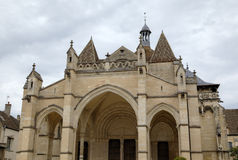 Collegiale church Notre-Dame de Beaune. Beaune, France Royalty Free Stock Photos