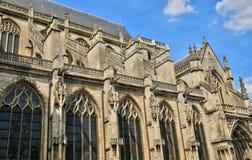 Collegiale kerk Heilige Gervais Saint Protais van Gisors in Norma Royalty-vrije Stock Afbeeldingen