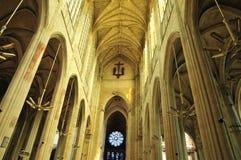Collegiale kerk Heilige Gervais Saint Protais van Gisors in Norma Royalty-vrije Stock Foto's