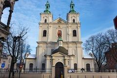 Collegiale Kerk van St Florian in het historische deel van Krakau Royalty-vrije Stock Foto's
