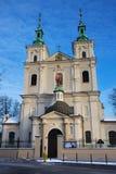Collegiale Kerk van St Florian in het historische deel van Krakau Stock Foto's