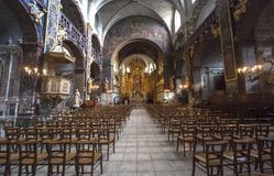 Collegiale of L'isle sur la Sorgue, Luberon, Provence, France Royalty Free Stock Photography