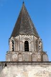 Collegiale som St-är vår bredvid slott av Loches Royaltyfri Foto