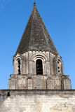 Collegiale St我们的在洛什旁边城堡  免版税库存照片