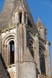Collegiale St-les nôtres près du château de Loches. photographie stock libre de droits
