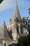 Collegiale St-Ours beside castle of Loches. Stock Images