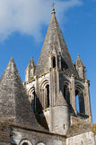 Collegiale St-Ours beside castle of Loches. Royalty Free Stock Images
