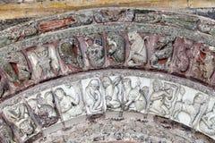 Collegiale St.-unsere neben Schloss von Loches. Lizenzfreies Stockfoto