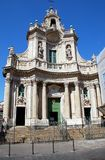 Collegiata Basilica. Basilica della Collegiata, splendid example of Sicilian baroque architecture, Catania, Sicily Stock Photography
