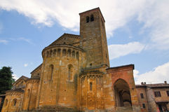 Collegiata Church. CastellArquato. Emilia-Romagna. Italy. Royalty Free Stock Photography
