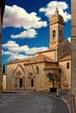 Collegiata church saint quirico d`orcia tuscany italy. Collegiata church in saint quirico d`orcia tuscany italy Stock Images