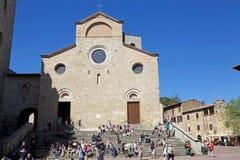Collegiata church of San Gimignano, Tuscany, Italy royalty free stock photo