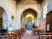 Collegiata dei Santi Quirico e Giulitta in San Quirico d'Orcia i Stock Image