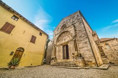 Collegiata di San Quirico on a sunny day Royalty Free Stock Photos