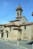 Collegiata en el d& x27 de San Quirico; Orcia, Siena, Toscana, Italia Foto de archivo