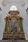 Collegiate church Altar in Salzburg, Austria royalty free stock photo