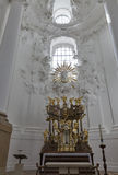 Collegiate church Altar in Salzburg, Austria stock photos