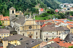 Collegiate Church of Bellinzona Stock Photo