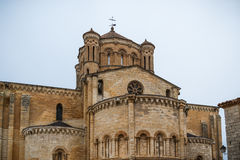 Collegiate church. Of Bull, of Romanesque style Royalty Free Stock Photos