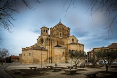 Collegiate church. Of Bull, of Romanesque style Royalty Free Stock Photography