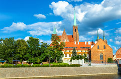 Collegiate Church of the Holy Cross and St. Bartholomew in Wroclaw, Poland Royalty Free Stock Photography