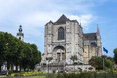 Collegiate Church in Mons, Belgium Stock Image
