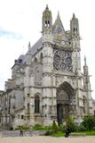 The Collegiate Church Notre Dame in Vernon. Normandy, France. royalty free stock photography