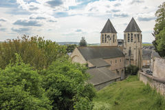 Collegiate church of Saint-Mexme. Chinon. France Stock Images