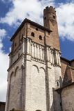 Collegiate Church of Saint Salvi. Tower of the Collegiate Church of Saint Salvi in Toulouse, France Stock Images