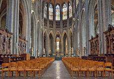 Collegiate church Saint Waudru in Mons Royalty Free Stock Images
