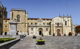 Collegiate Church of San Isidoro. Leon Spain Royalty Free Stock Images