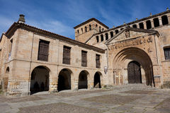 Collegiate church of Santa Juliana. Santillana del Mar, Cantabria, Spain Stock Photos