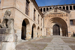 Collegiate church of Santa Juliana. Santillana del Mar, Cantabria, Spain Stock Image